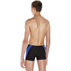 speedo Colour Block Aquashorts Boys, black/amparo blue/turquoise
